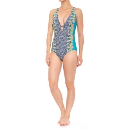 6d7f570ec80f6 Coastal Zone by Jantzen Plunge One-Piece Swimsuit - Removable Padded Cups  (For Women
