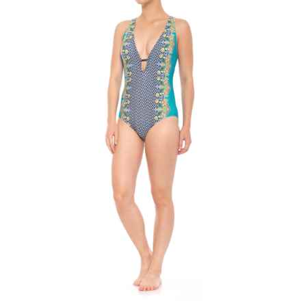 6c4df78198 Coastal Zone by Jantzen Plunge One-Piece Swimsuit - Removable Padded Cups ( For Women