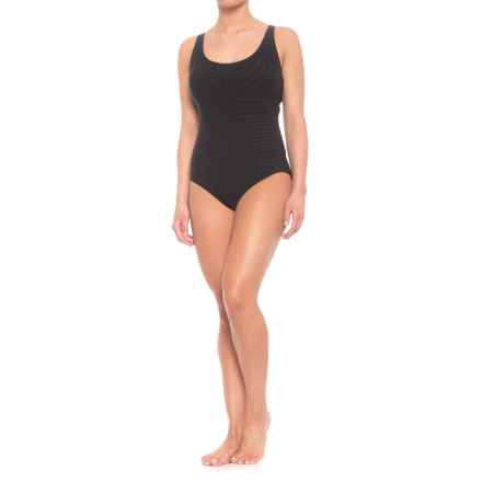 Coco Reef Contours Classic Cut One-Piece Swimsuit (For Women) in Black - Closeouts