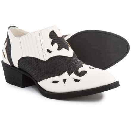 755aa5e5f6 Coconuts by Matisse Giddy Up Western Shoes (For Women) in Black White -