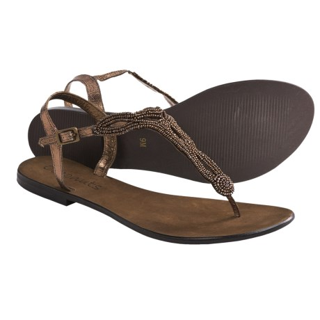 Coconuts by Matisse Pino Ankle Strap Sandals (For Women) in Bronze