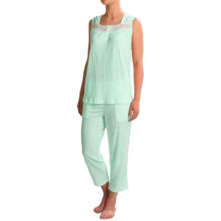 Coeur d'Alene Knit Gauzy Capri Pajamas - Sleeveless (For Women) in Mint - Closeouts
