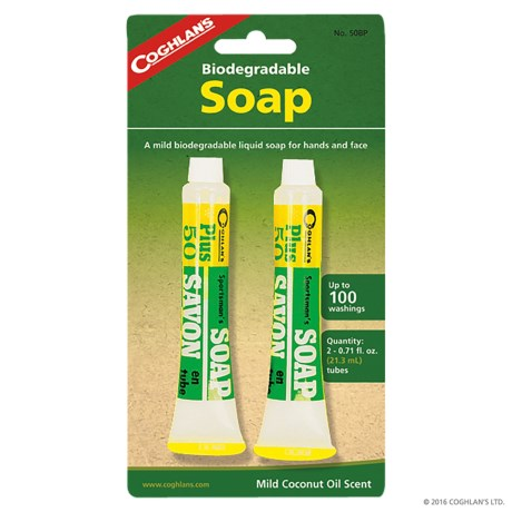 Coghlan's Biodegradable Sportsman's Soap - 2-Pack in See Photo