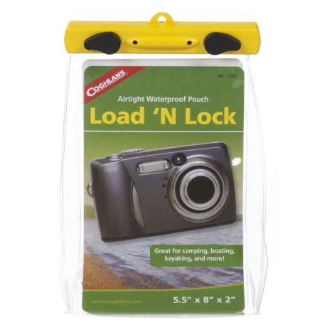 """Coghlan's Load 'N Lock Airtight Waterproof Pouch - 5.5x8"""" in See Photo"""