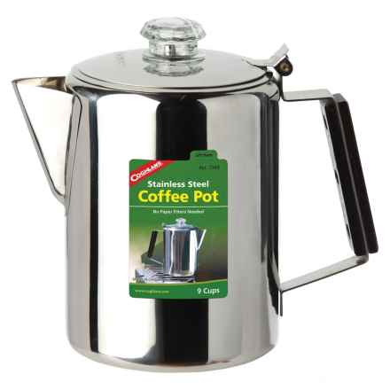 Coghlan's Stainless Steel Coffee Pot - 9 Cups in See Photo - Closeouts