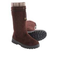 Cold Front Tech Wear Cassadee Boots - Fleece Lined (For Women) in Brown Plaid - Closeouts