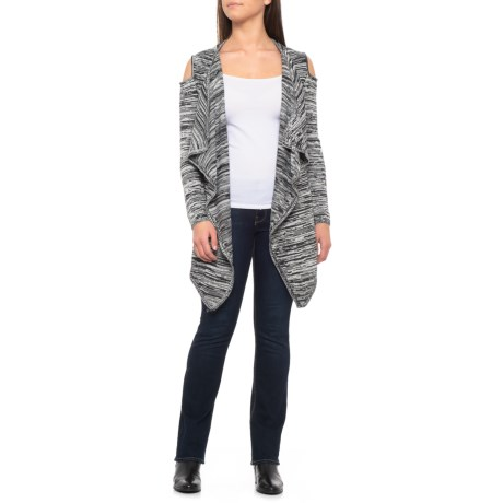 Image of Cold-Shoulder Cardigan Sweater (For Women)