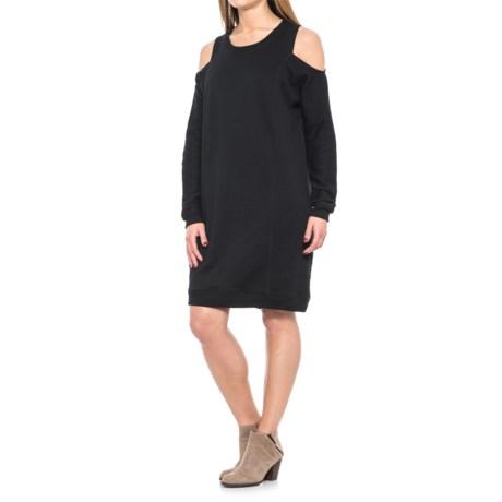 Cold Shoulder Dress - Long Sleeve (For Women)
