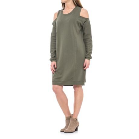 Image of Cold Shoulder Dress - Long Sleeve (For Women)