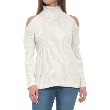 Image of Cold-Shoulder Sweater - Cowl Neck (For Women)