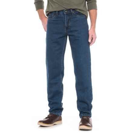 Cold Storage Flannel-Lined Jeans (For Men) in Medium Wash - Closeouts