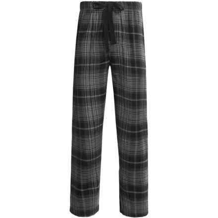 Cold Storage Flannel Pajama Bottoms (For Men) in Black Plaid - Closeouts