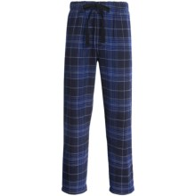 Cold Storage Flannel Pajama Bottoms (For Men) in Blue Plaid - Closeouts