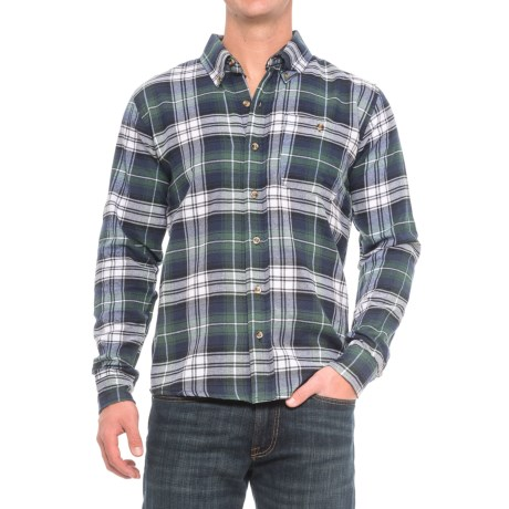 Cold Storage Plaid Flannel Shirt - Long Sleeve (For Men) in Blue/Green