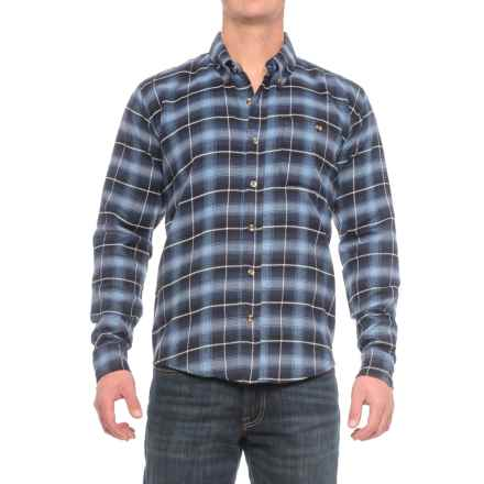 Cold Storage Plaid Flannel Shirt - Long Sleeve (For Men) in Navy/Blue - Closeouts