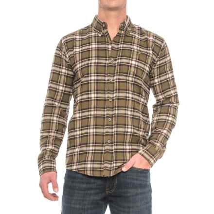 Cold Storage Plaid Flannel Shirt - Long Sleeve (For Men) in Olive/Brown - Closeouts