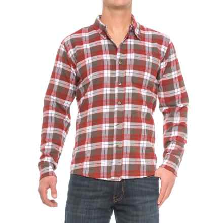 Cold Storage Plaid Flannel Shirt - Long Sleeve (For Men) in Red/Grey - Closeouts