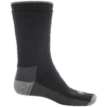 Cold Weather Work Socks - Crew (For Men and Women) in Black - 2nds