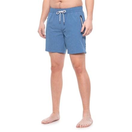 d2f5a87c7a4f7 Cole Active Blue 4-Way Stretch Swim Trunks - UPF 30+ (For Men