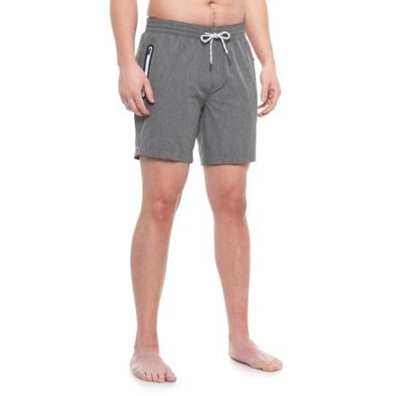 7cc3f9948a Cole Grey 4-Way Stretch Swim Trunks - UPF 30+ (For Men)