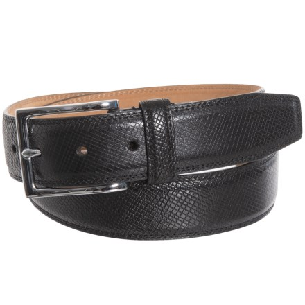 7366bbc166 Cole Haan 35mm Feather Edge Panel Belt with Double-Edge Stitching - Leather  (For