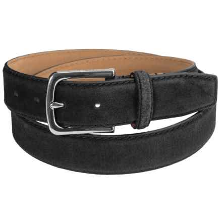 Cole Haan 35mm Suede Belt (For Men) in Black - Closeouts