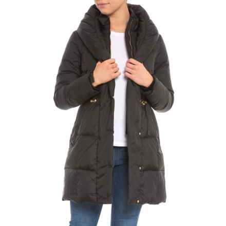 Cole Haan Bib Front Down Coat - Insulated (For Women) in Black - Closeouts