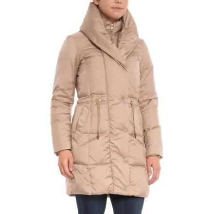 Cole Haan Bib Front Down Coat - Insulated (For Women) in Sand - Closeouts