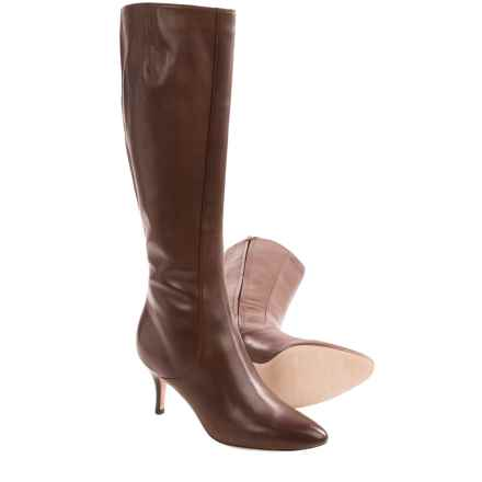 Cole Haan Carlyle Leather Dress Boots - Side Zip (For Women) in Chestnut - Closeouts