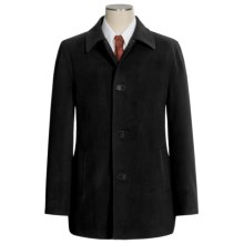 Cole Haan Classic Topper Coat - Italian Wool Blend (For Men) in Black - Closeouts