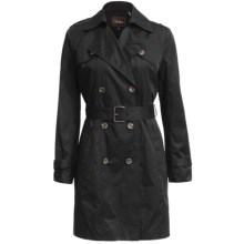 Cole Haan Double-Breasted Trench Coat (For Women) in Black - Closeouts