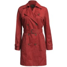 Cole Haan Double-Breasted Trench Coat (For Women) in Red - Closeouts