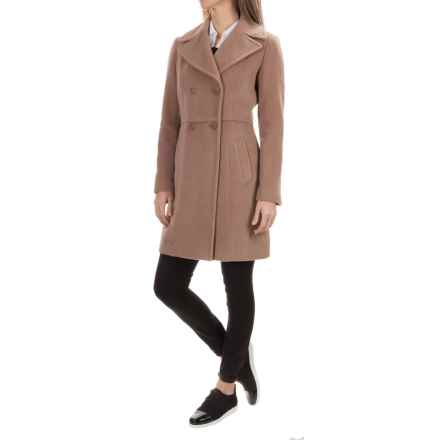 Cole Haan Double-Breasted Wool Peacoat (For Women) in Vicuna - Closeouts