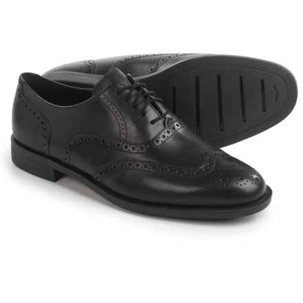 Cole Haan Dustin Wingtip II Shoes - Leather  (For Men) in Black - Closeouts