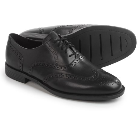 Cole Haan Dustin Wingtip II Shoes - Leather  (For Men) in Black