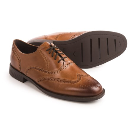 Cole Haan Dustin Wingtip II Shoes - Leather  (For Men) in Tan