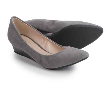 Cole Haan Elsie Luxe Shoes - Suede, Wedge Heel (For Women) in Storm Cloud Suede - Closeouts