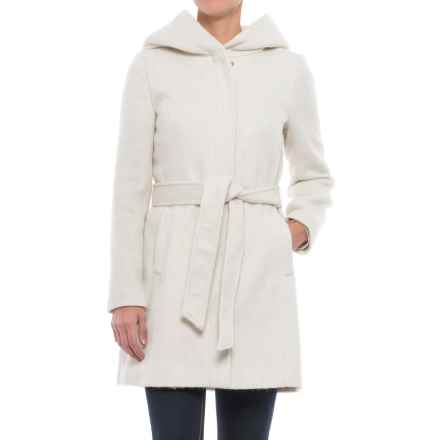 Cole Haan Faux-Angora Belted Coat - Wool Blend (For Women) in Winter - Closeouts