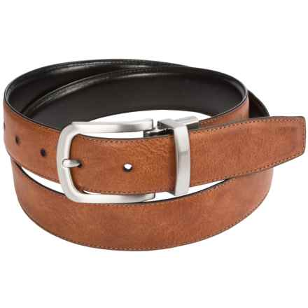 Cole Haan Feathered Edge Reversible Leather Belt (For Men) in Tan/Black - Closeouts