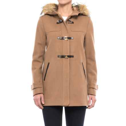Cole Haan Fireman Clasp Coat - Wool Blend (For Women) in Camel - Closeouts