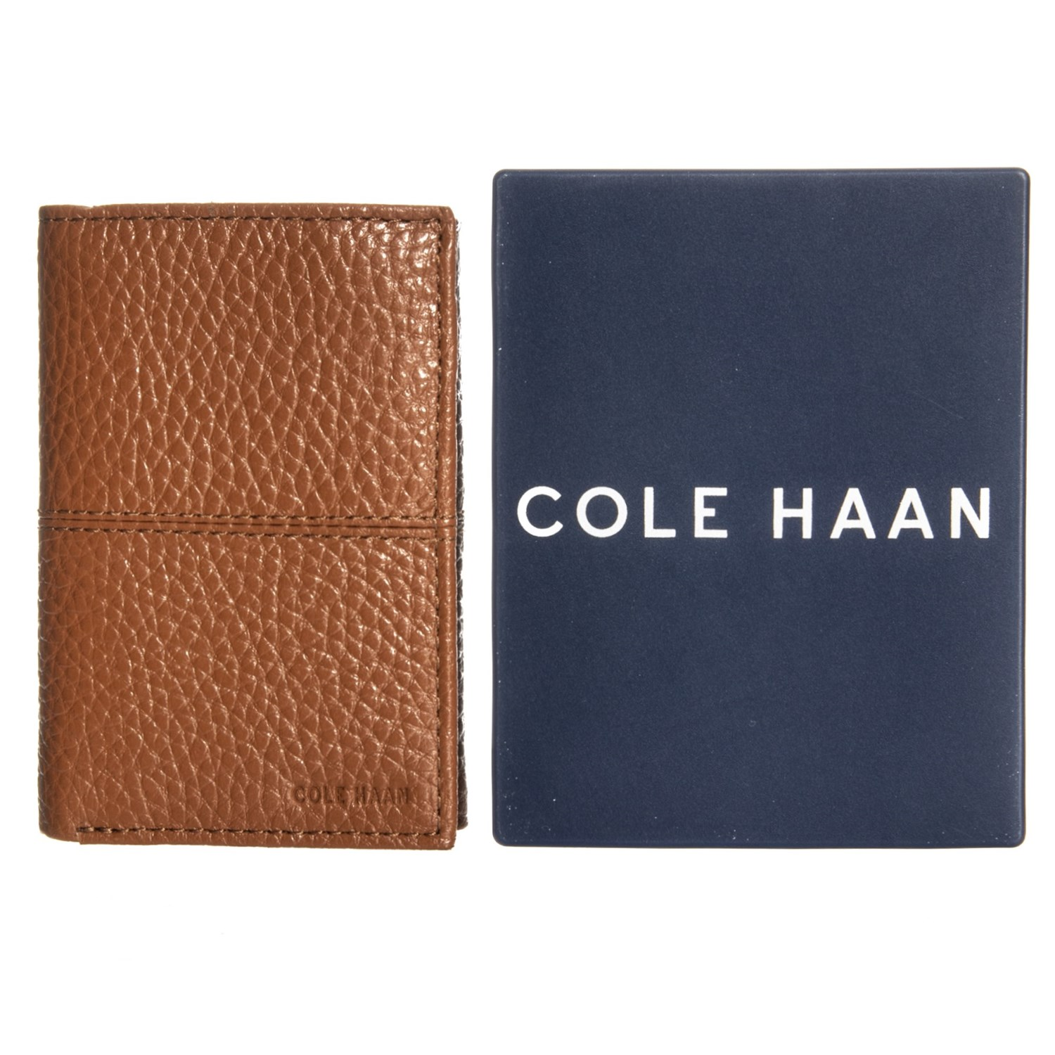 9d2d83701334d Cole Haan Full-Grain Pebbled Leather Trifold Wallet (For Men) - Save 77%