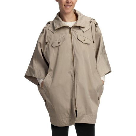 Cole Haan Gabardine Poncho (For Women) in Tan