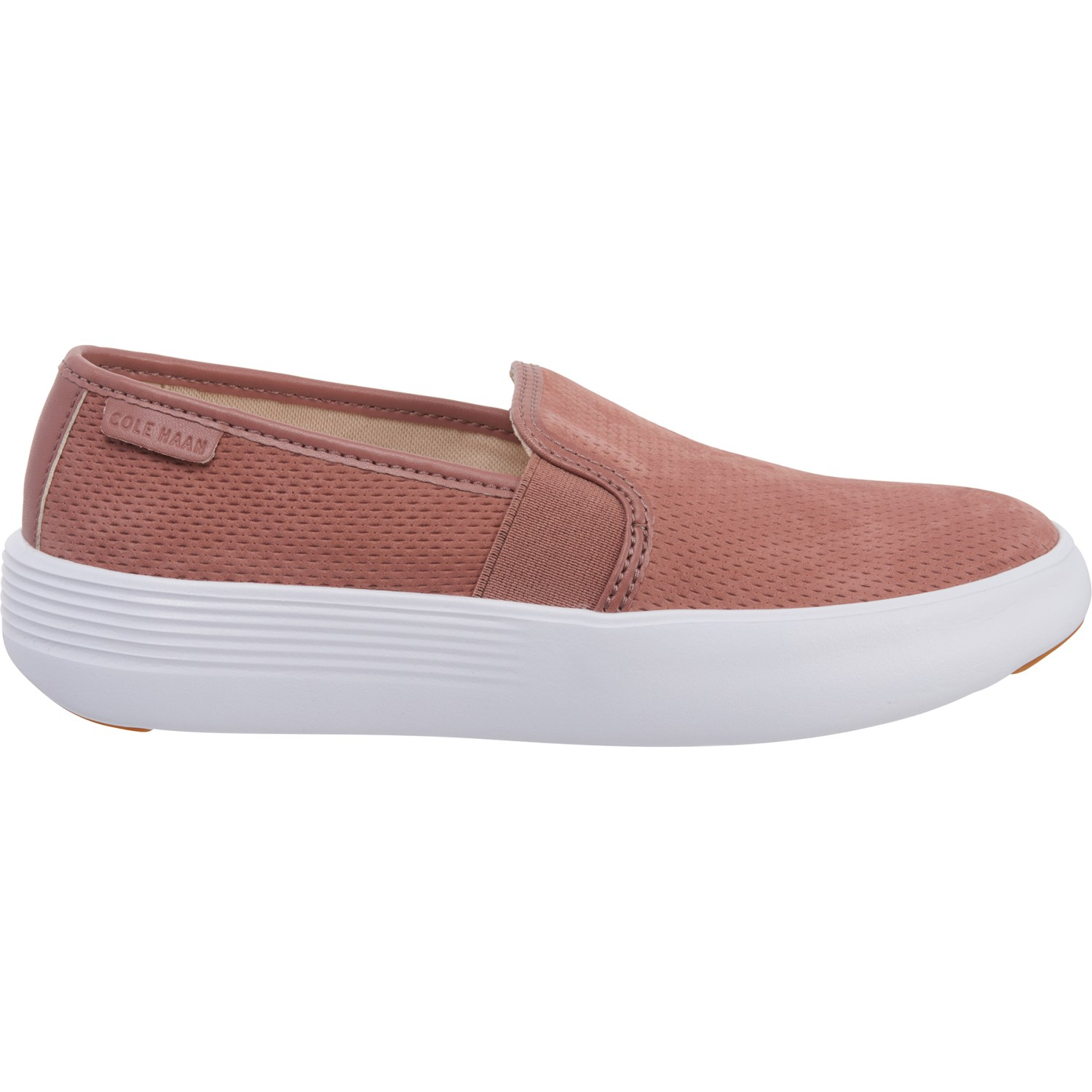 100% original 100% quality official price Cole Haan Grand Crosscourt Flatform Sneakers - Leather, Slip-Ons (For Women)