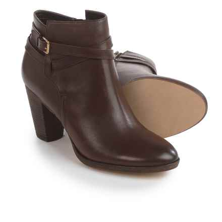 Cole Haan Hayes Belt Ankle Boots - Leather (For Women) in Chestnut - Closeouts