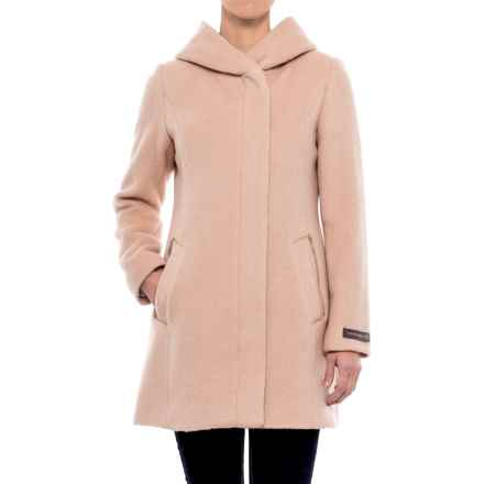 Cole Haan Hooded Alpaca-Wool Coat (For Women) in Canyon Rose - Closeouts