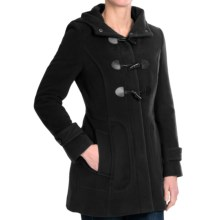 Cole Haan Hooded Duffle Coat with Toggles - Wool-Cashmere (For Women) in Black - Closeouts
