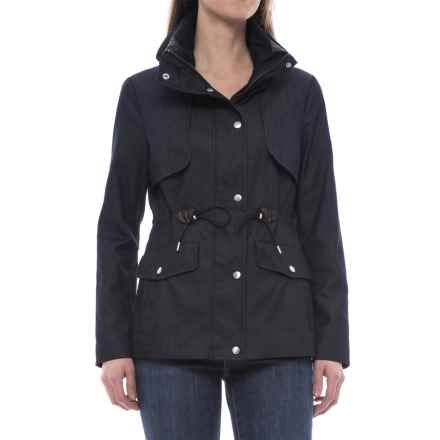 Cole Haan Hooded Jacket (For Women) in Denim - Closeouts