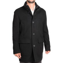 Cole Haan Italian Wool Topper Coat (For Men) in Black - Closeouts