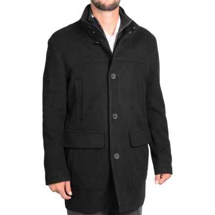 Cole Haan Italian Wool Topper Coat (For Men) in Black - Closeouts
