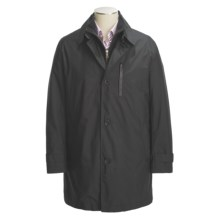 Cole Haan Japanese Nylon Duffle Coat - Removable Fleece Liner (For Men) in Black - Closeouts